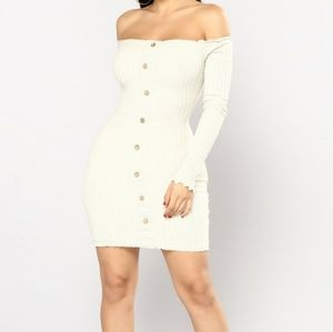 Fashion Nova Off Shoulder Mini Dress